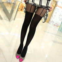 2013 female summer thin heart gaotong pantyhose sexy stockings