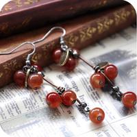 Promotion! Wholesale!  Fashion lady women jewelry vintage sweet cherry elegant alloy drop earrings ER177