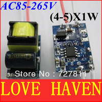 Low price 10pcs/lot,(4-5)x1W LED power driver,4W5W lamp transformer,85-265V for high power led light free shipping