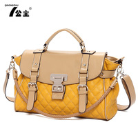 2013 women's handbag fashion plaid messenger bag shoulder bag messenger bag  leather handbags bag woman jelly bag bolsas