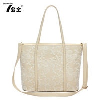 2013 spring and summer women's handbag fashion flower lace one shoulder cross-body bags large  leather handbags bag woman bolsas