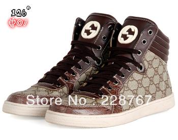 Free shipping high-quality NewGu*_*c*ci men's high-top waterproof shoes 40-46