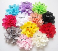 Free Shipping High big Chiffon Lace Rose Flower Hair Clips Brooch Pins. Wedding Party baby girl Flower Hair Fascinator