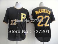 Free Shipping Cheap Pittsburgh Pirates Baseball Jerseys #22 Andrew McCutchen Balck Shorts Men Shirt  Fashaion Jerseys, Mix order