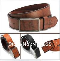 FREE SHIPPING Women's Belts Men's classic fashion brand of high quality leather belt wide belt / length 110cm / width 3.8cm