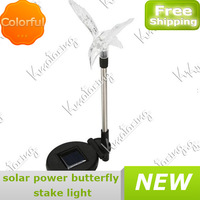 Landscape Solar For Garden Yard Stake Outdoor Led Power New Powered Hummingbird Pathway Change Color Lamp