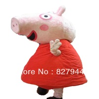 New Adult size suit Actual photo red peppa pig mascot Costume Clothes