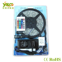 Free shipping wholesale 5M/lot SMD 5050 300 LEDs RGB Led Strips Non-Waterproof +IR controller + DC12v 6A power supply