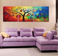 Frameless Diy digital oil painting fortune tree 50 150cm painting by numbers  unique gift for child home decor