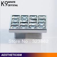 Free shipping Crystal Glass  Cabinet Knob Drawer Pull Handle Kitchen Door Wardrobe Hardwarefor for furniture