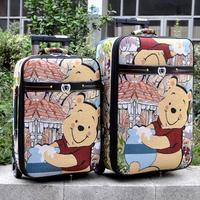 2013 beautiful cartoon bear external type trolley luggage bag travel bag luggage suitcase