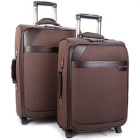 2013 new arrival hot-selling trolley luggage 20 24 brown suitcase commercial box travel bag drag boxes