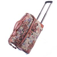 2013 travel bag luggage handbag cool decorative pattern wheel pull package