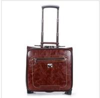 Vintage fashion quality luggage travel bag ol commercial box portable luggage
