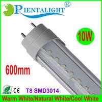 25PCS/Lot 600MM 2Feet,T8 LED Tube Light High brightness SMD3014 AC100-240V,Clear PC Cover, Aluminum Round,Warm/Pure/Cool White
