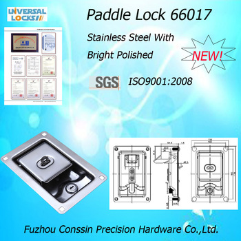 Manufacturer promotion high quality stainless steel lock,mechnical lock,truck lock,Pddle Latch,Toolbox Lock 66017