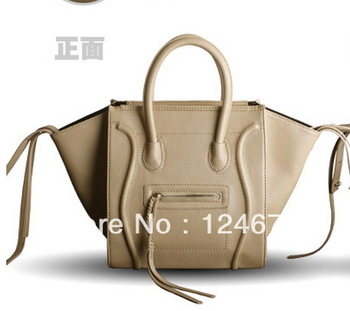 2013 New Famous Designer Brand  Women's Handbag Fashion Medium Szie PU Solid Color Phantom Smiley Bag Free Shipping