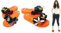 Free shipping women Bubbleflop candy slippers sandals grape bubble flip flops Beach sandals