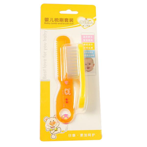 Rikang baby comb brush set baby comb newborn supplies 3657(China (Mainland))