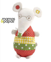 Mamas&Papas Mouse Chime Toy, Baby Soft Comforter Toy, Baby Early Development Toy