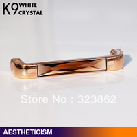 Crystal Glass Cabinet Knobs Drawer Pull Handle Kitchen Door Wardrobe Hardware
