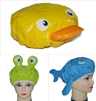 Cartoon waterproof shower cap waterproof thickening,three style ,free shipping