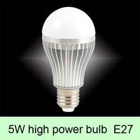 5x1W High Power G60 Globe LED Bulb Light  ,100-240V AC  E27 Round  Lamp Cool White/Warm White For home/Ceiling/ Decorative