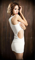 GOOD  SALE 2013 SUMMER NEW WOMEN SEXY ROUND NECK SLIM VEST DRESS 2-COLOR WF-4263