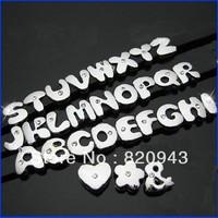 260pcs 8mm A-Z 8MM Fat etters slide letters fit 8mm wristband /pet collar