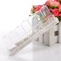 Free Shipping! 1500 PCs  Silver Plated Open Jump Rings 3mm-8mm (B08915)