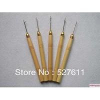 wigking Wooden Handle Pulling Needle/Micro Rings/Loop Needle Hair Extensions,Hair Extension Tools
