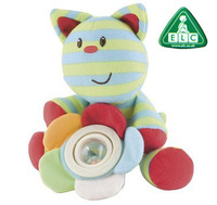 ELC bloosom farm whiskers cat spinner rattle baby stuffed toy cute kitten