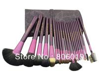 20 pcs/set Professional Makeup Brush Set Cosmetic Make up Brush With Fashion Roll Up Bag Free shipping+Dropshipping