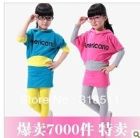 Free shipping,5 sets/lot children clothing set,girl wear,kid's wear,2 color hot sale in store