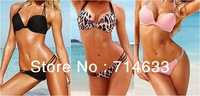 2012 NEW Hot Sexy Lady 2 Pcs Womens Swimsuit Swimwear Bra Top Push Up Padded Beach Bikini Bathing Free Shipping