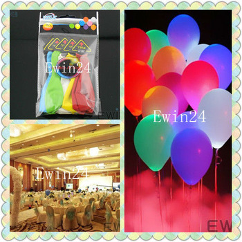 20 X New LED Light Up Balloons Lighting Flashing bag filler for Party  Disco Wedding Drop shipping Freeshipping By CPAM