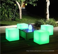 Free shipping waterproof rechargeable led cube chair light 40cm 4pcs/lot by FEDEX about 4-5days