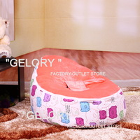 sofa bean bag pattern with harness,sleeping baby bean bag of non-toxic velvet with Canvas base,cute pig pattern design