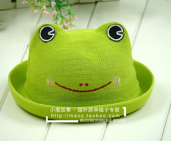 Male cartoon animal style sun-shading bucket hats summer outdoor child bucket hat