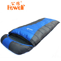 free shipping Hewolf outdoor adult winter thermal sleeping bag patchwork envelope sleeping bag 1537