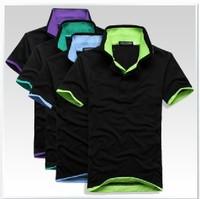 Free shipping2013 New Mens T Shirt +Men's Short Sleeve T Shirt slim fit ,Polo shirt ,cotton,12colors ,4size,drop shipping a60