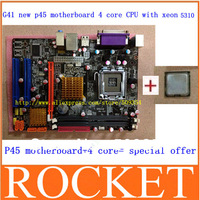 Factory 100% NEW G41 desktop motherboard+5310 high level (1.60GHZ) 8M true quad-core INTEL CPU fully tested all functions