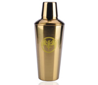 1000ml golden stainless steel cocktail shaker commemorative edition shake pot