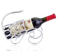 Fashion European style portable silver plated wine rack wine bottle holder