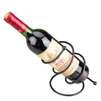 Creative brief nordic style iron red wine rack