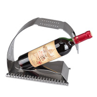 Advanced hollow out decorative pattern stainless steel fashion wine rack wine holder