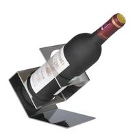 Scimitar-shaped thick stainless steel wine rack fashion gun shape bar wine bottle holder