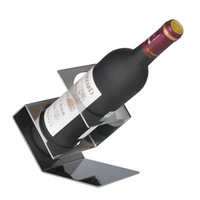 Scimitar-shaped thick stainless steel wine rack fashion gun shape bar wine bottle holder