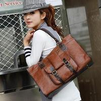 Women Handbags Fashion Shoulder bags Elegant Retro Thick Leather Bags With Three BG1331