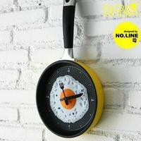 2013 New DIY Home Creative Happy Time Omelette Pan Wall Clock Art Design Fried Egg Clock 2pcs a lot